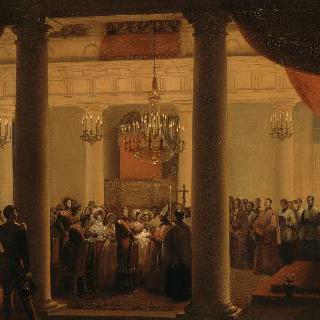 튈르리 예배당에서 거행된 로베르 도를레앙, 샤르트르 공작의 세례식