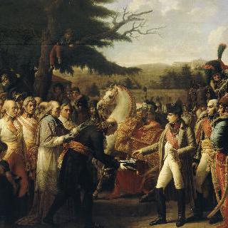 1805년 11월 13일 쉔브룬에서 비엔나의 열쇠를 받는 나폴레옹 1세