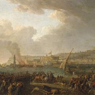 1799년 1월 21일 샹피오네 장군의 지휘 아래 나폴리로 진격하는 프랑스 군대