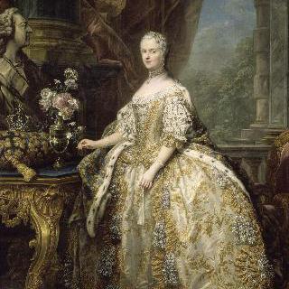 황녀복을 입은 프랑스의 왕비 마리 레슈친스카 (1703-1768)의 1747년의 초상