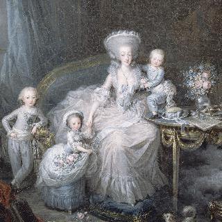 1783년 아르투아 백작 부인과 세 아이들