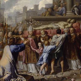 성 제르베와 성 프로테의 시신 이송