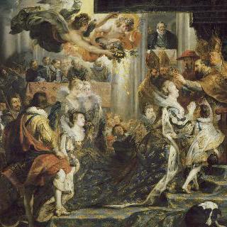 1610년 5월 13일 생-드니에서 거행된 마리 드 메디시스의 대관식