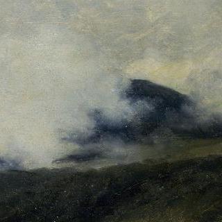 로카 디 파파에서 : 구름에 가린 산