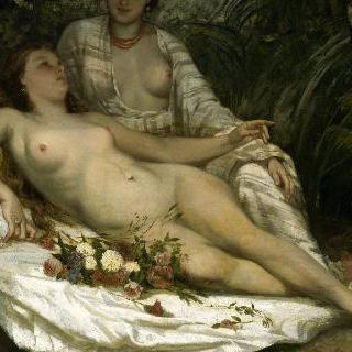 목욕하는 여인들 (두 명의 나부)