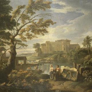 바티칸 벨베데레 궁이 보이는 풍경