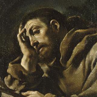명상중인 성 프란체스코