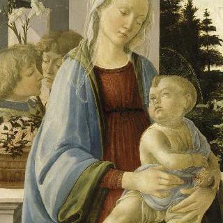천사들과 함께 있는 성모와 아기 예수 (석류를 든 성모)