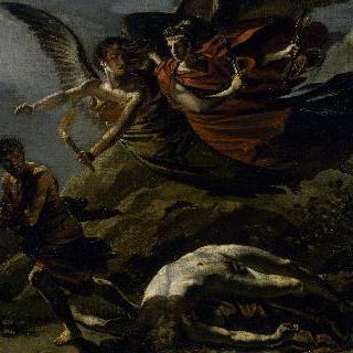 죄악을 뒤쫓는 정의의 여신과 복수의 여신(프루동의 작품 모사)