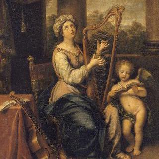 주 예수를 찬양하는 성녀 세실리아