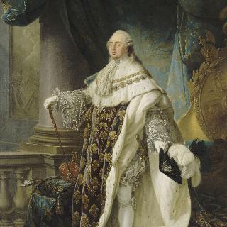 1779년 왕정복을 차려입은 프랑스와 나바르의 왕 루이 16세 (1754-1793)