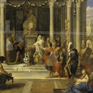 야누스 신전의 문을 닫으라고 명령하는 오귀스트