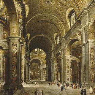 로마 성 베드로 성당을 방문한 말시오르 드 폴리냑 추기경