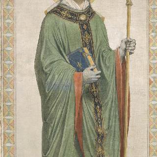 성 페르디낭 성당 스테인드글라스의 밑그림 : 보름스 주교 성 로베르토 혹은 루퍼트