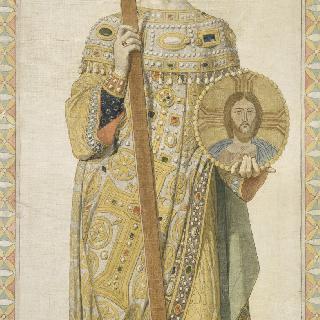 성 페르디낭 성당 스테인드글라스의 밑그림 : 성녀 엘레나 앵페라트리스