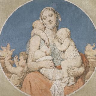 성 페르디낭 성당 스테인드글라스의 밑그림 : 자비심
