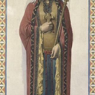 성 루이 아 드뢰 성당 스테인드글라스의 밑그림 : 클로비스의 부인 성녀 클로틸드