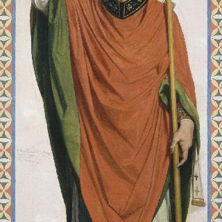 성 루이 아 드뢰 성당 스테인드글라스의 밑그림 : 랭스의 주교 성 레미