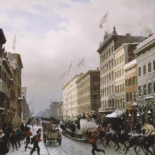 1840년 뉴욕의 거리