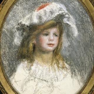 모자를 쓴 어린 소녀의 초상