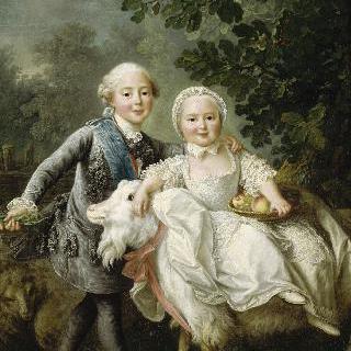 어린 시절의 아르투아 백작과 그의 누이, 마리-클로틸드-자비에