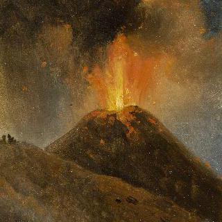 밤, 베수비오 화산의 분화