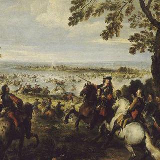 톨휘스에서 라인 강을 건너는 루이 14세의 군인들