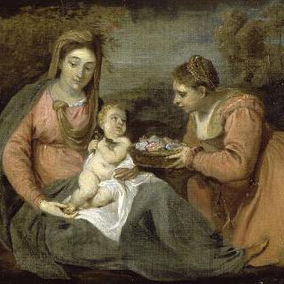 성모와 아기 예수, 성녀 도로테아
