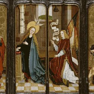 수태고지, 삼위일체의 성녀 안나, 성 앙투안 수도사