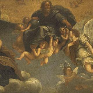 천사들에게 찬송받는 성부