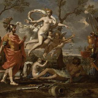 아에네아스에게 무기를 보여주는 비너스
