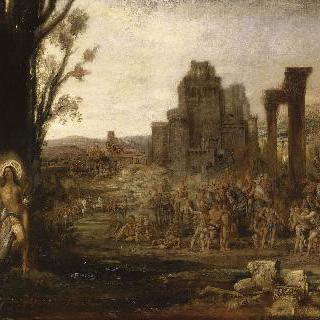 활잡이 사수들 앞의 성 세바스티아누스
