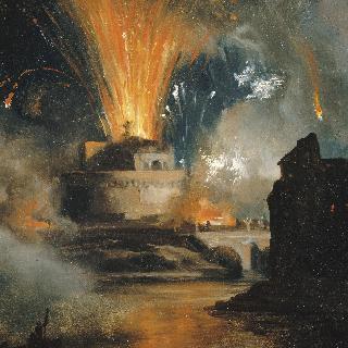 산탄젤로 성에서 쏘아올린 불꽃놀이