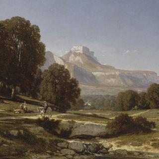 그르노블 근처의 풍경. 절벽