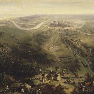 르페브르 장군에 의해 점령 당하는 단지크의 전경