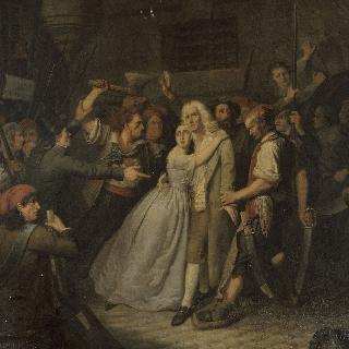 1792년 9월 23일 수도원 감옥의 엘리자베트 드 카조트