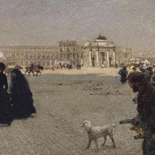 카루셀 광장 : 1882년 튈르리 궁의 폐허