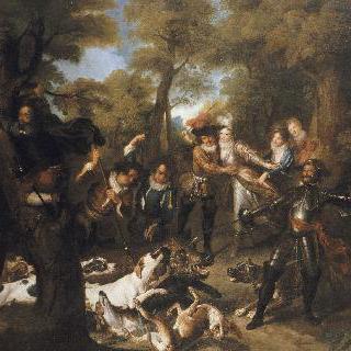 돈키호테 이야기 : 사냥 중 비겁한 행동을 하는 산초