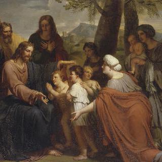 어린이들에게 은총을 내리는 예수 그리스도