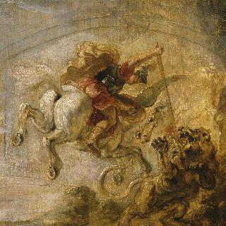 페가소스를 타고 키메라를 무찌르는 벨레로폰