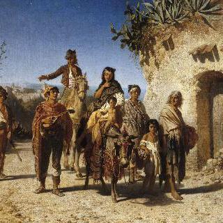 여행 중인 보헤미안 가족