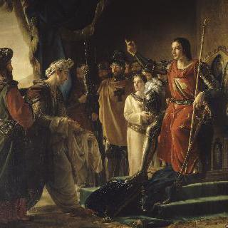 생-장 드크르 (프톨레마이스)에서 라시드 엘 딘 시난의 사절단을 맞는 성 루이