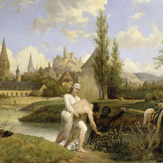 1791년 8월 경 방돔, 기술자 시레를 익사위기에서 구해내는 샤르트르 공작