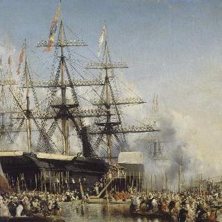 1844년 10월 8일 포르트무스에 상륙한 루이 필리프