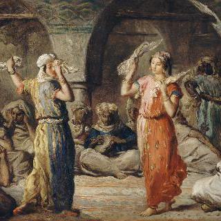 춤추는 모로코 여인들. 손수건을 가지고 추는 춤