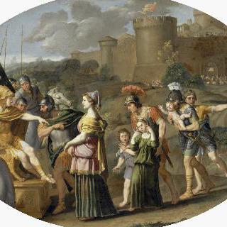 알렉산더 대왕 앞에 포로로 끌려온 티모클레시아