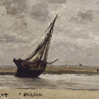 트루빌, 정박한 배 (썰물때의 낚시배)