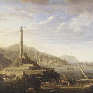 미욜리 장군의 명령을 받고 제노바로 진군하는 프랑스 군대
