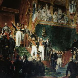 헌장에 선서하는 왕 루이-필립