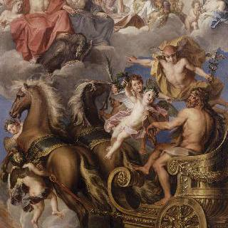 헤라클레스를 올랭피아 만신전으로 이끄는 헤르메스